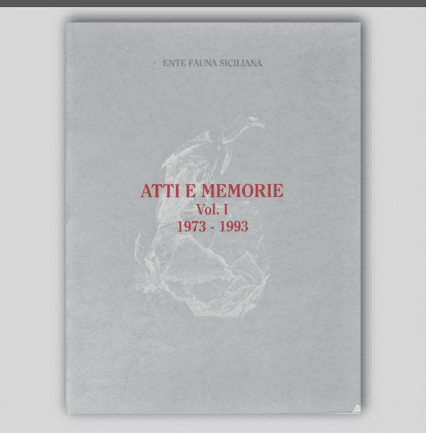 ATTI E MEMORIE Vol. I 1973 - 1993 _ Fronte