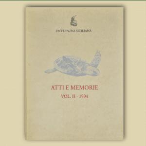 ATTI E MEMORIE Vol. II 1994 _ Fronte