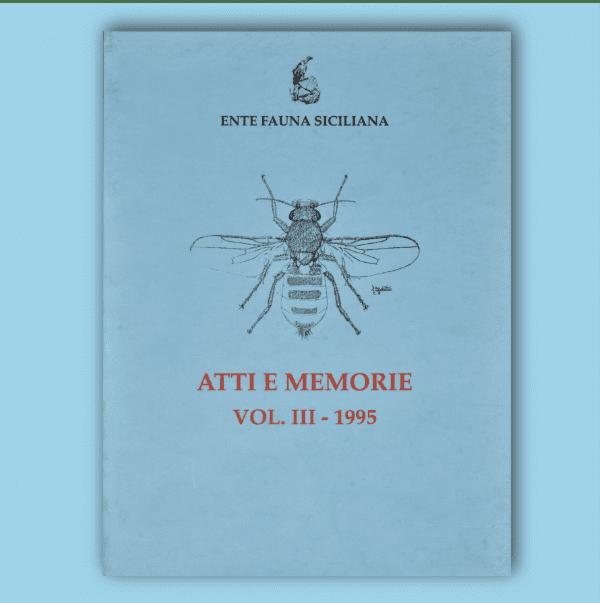 ATTI E MEMORIE Vol. III 1995 _ Fronte