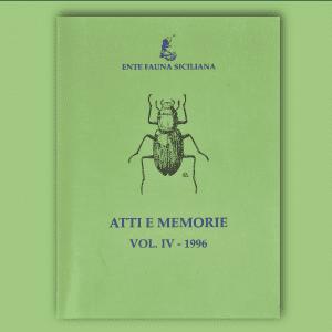 ATTI E MEMORIE Vol. IV 1996 _ Fronte
