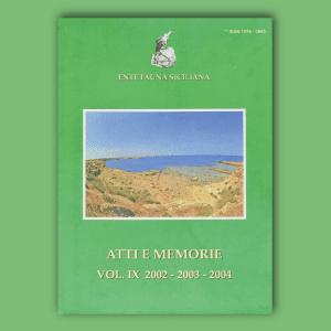 ATTI E MEMORIE Vol. IX 2003 - 2004 - 2005 _ Fronte