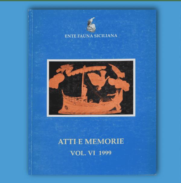 ATTI E MEMORIE Vol. VI 1999 _ Fronte