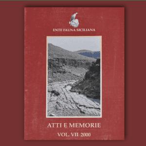 ATTI E MEMORIE Vol. VII 2000 _ Fronte