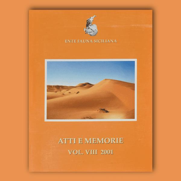 ATTI E MEMORIE Vol. VIII 2001 _ Fronte