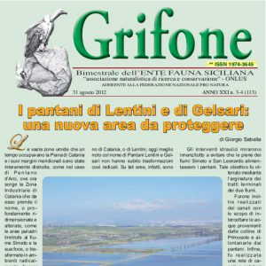 Grifone ANNO XXI n.3-4 (113) - 31 agosto 2012