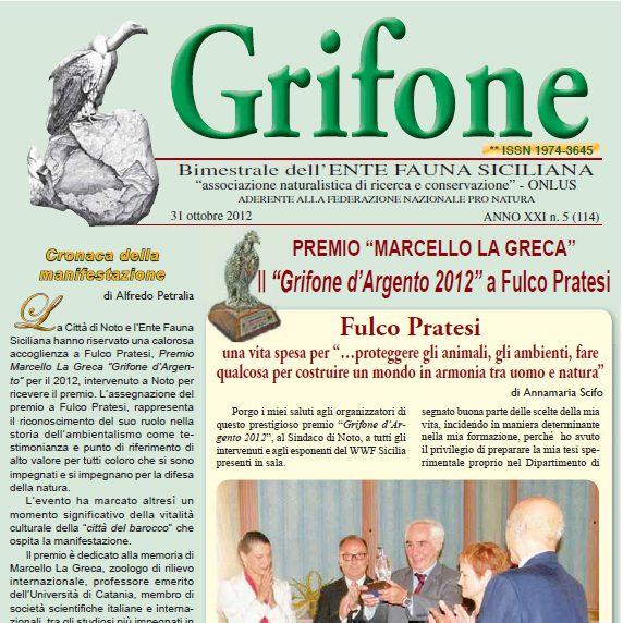 Grifone ANNO XXI n. 5 (114) - 31 ottobre 2012