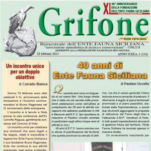Grifone ANNO XXII n. 1 (116) - 28 febbraio 2013