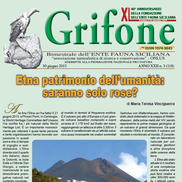 Grifone ANNO XXII n. 3 (118) - 30 giugno 2013