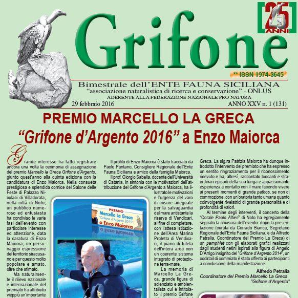 Grifone ANNO XXV n. 1 (131) - 29 febbraio 2016