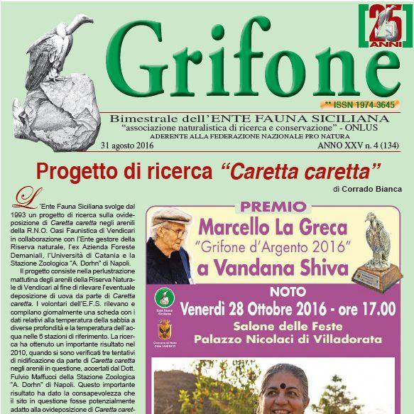 Grifone ANNO XXV n. 4 (134) - 31 agosto 2016