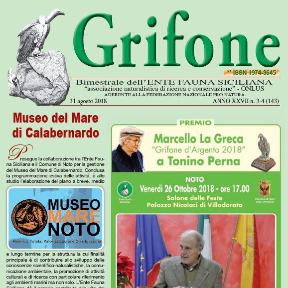 Grifone ANNO XXVII n. 3-4 (143) - 31 agosto 2018