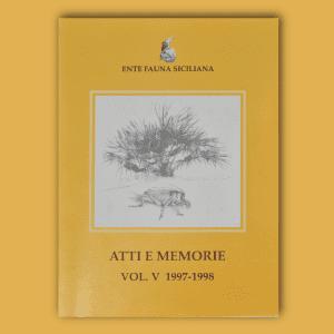 ATTI E MEMORIE Vol. V 1997 - 1998 _ Fronte