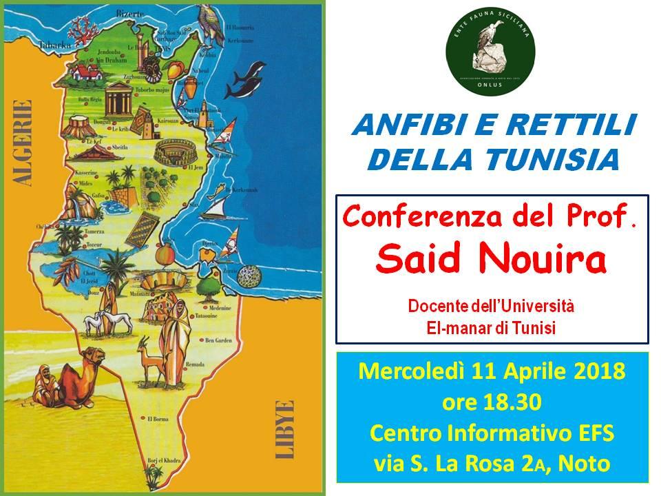 Anfibi e Rettili della Tunisia, Conferenza del Prof. Said Nouira