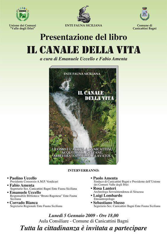 """05-01-2009: Canicattini Bagni, Presentazione del libro """"Il canale della vita"""""""