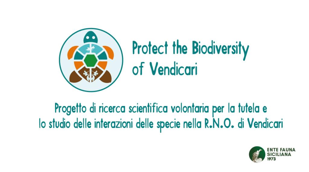 Progetto di ricerca scientifica volontaria per la tutela e lo studio delle interazioni delle specie nella R.N.O. di Vendicariente fauna siciliana Protect the Biodiversity of Vendicari
