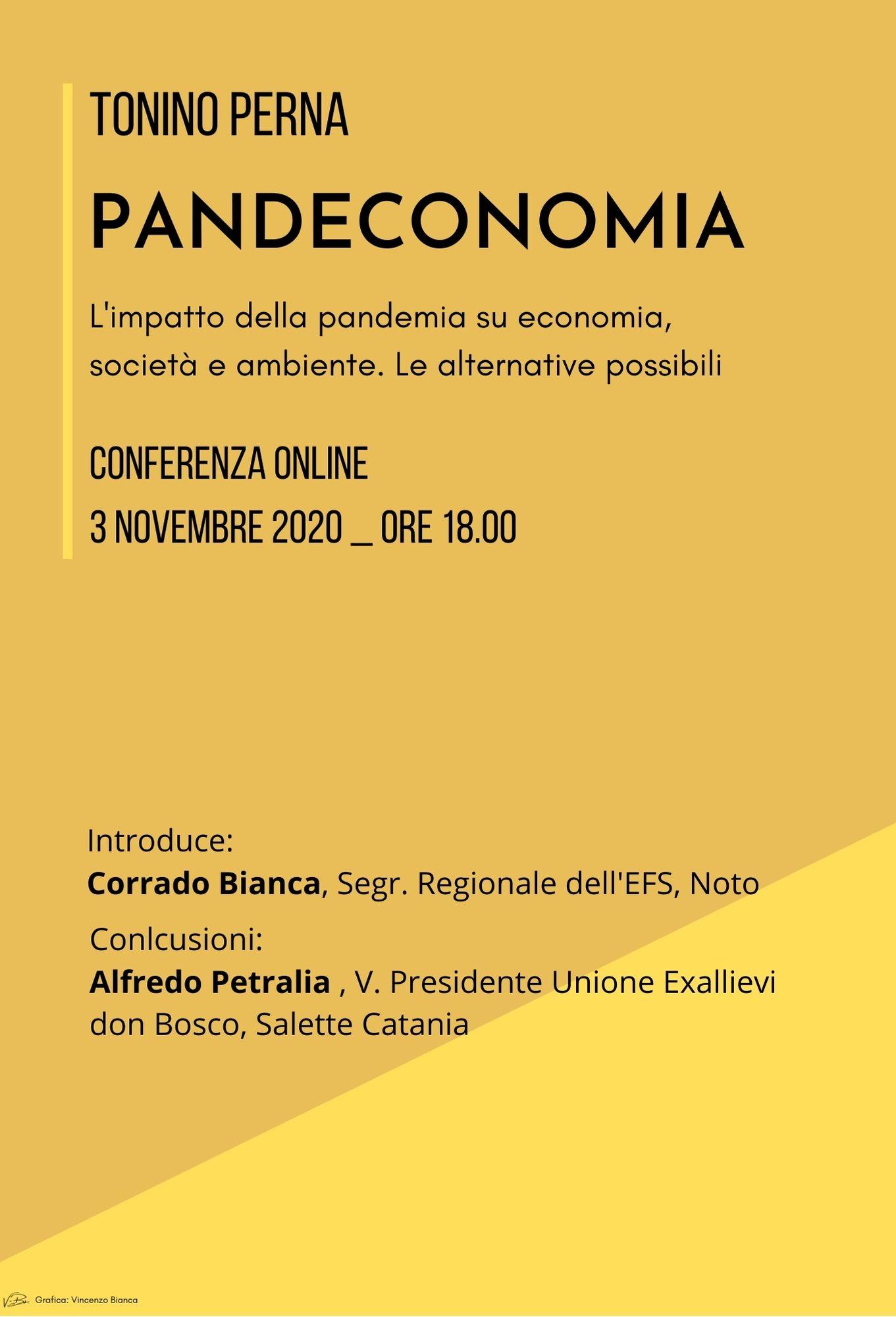 PANDECONOMIA - Tonino Perna (Conferenza Online)
