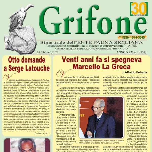 Grifone 157 anno XXX n. 1 - 28 febbraio 2021